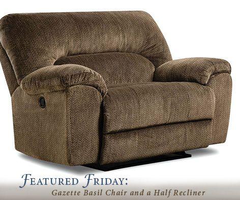 Featured Furniture Gazette Basil Recliner Chair And A Half