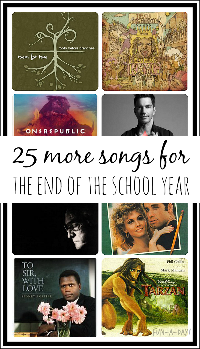 Many more song suggestions for those fun end of the school year slideshows!