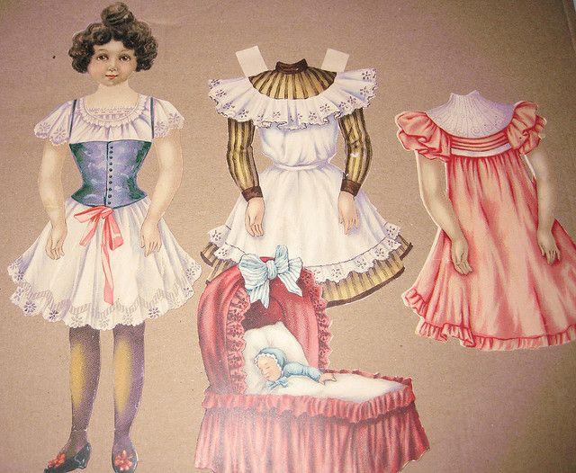 Gentle Amy, Raphael Tuck Sunbeam Series of Dressing Dolls circa 1910