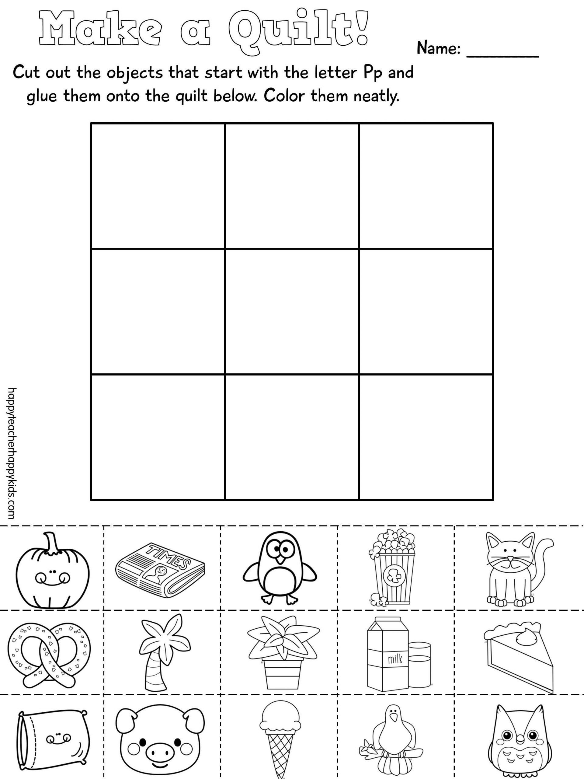 Letter P Worksheets For Kindergarten Worksheet Ideas