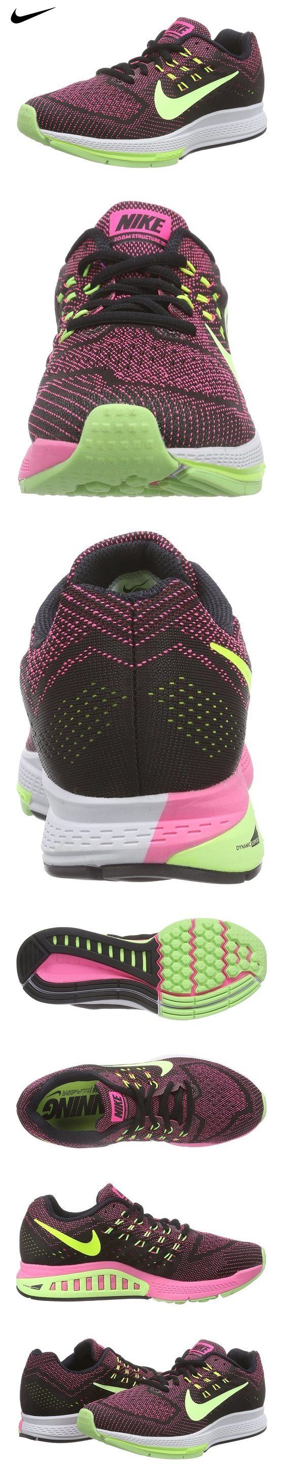 official photos 619c3 e00c0 Nike Womens Wmns Air Zoom Structure 18, PINK POW GHOST GREEN-BLACK-VOLT, 8  US