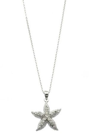 Le Chic Starfish Necklace in Silver and Clear