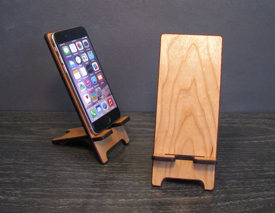 Universal Wood Smart Phone Stand Wooden Docking