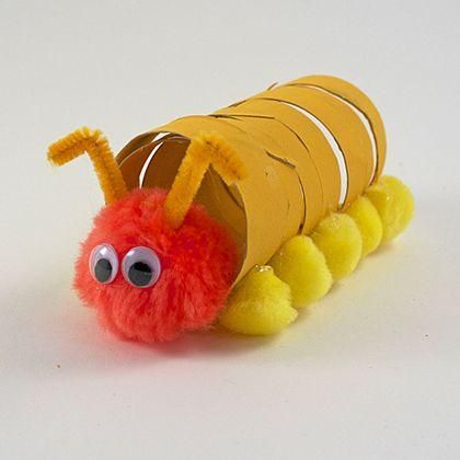 DIY Kids Crafts : DIY Coiled Cardboard Tube Caterpillar