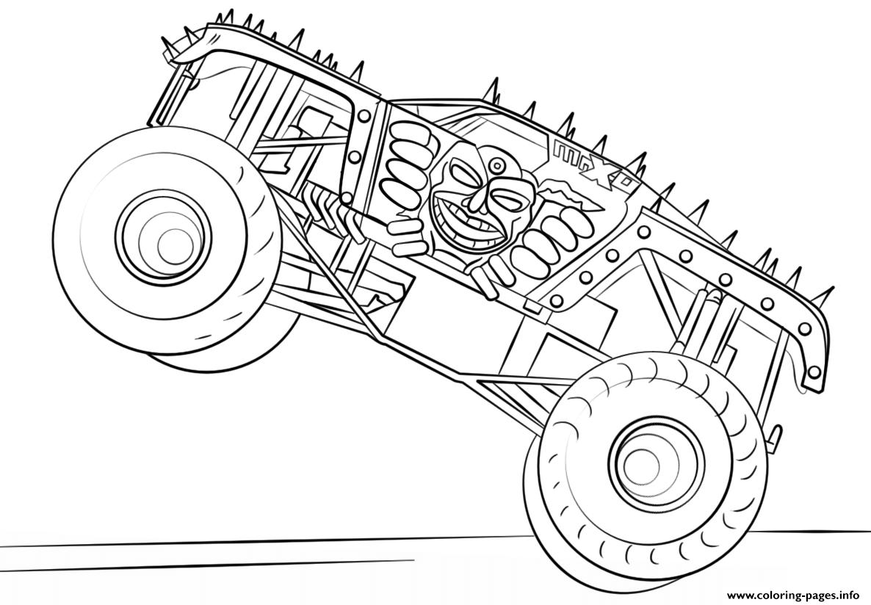 Print Max D Monster Truck Bigfoot Coloring Pages Monster Truck Coloring Pages Truck Coloring Pages Cartoon Coloring Pages