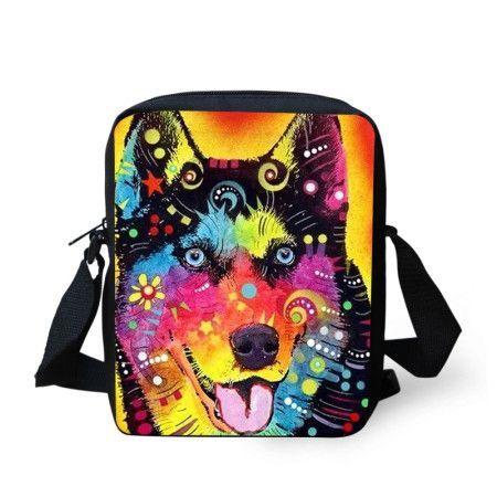 e53e5ae854c5 New Brand Designer Women Messenger Bags Pet Dog Printing Shoulder ...