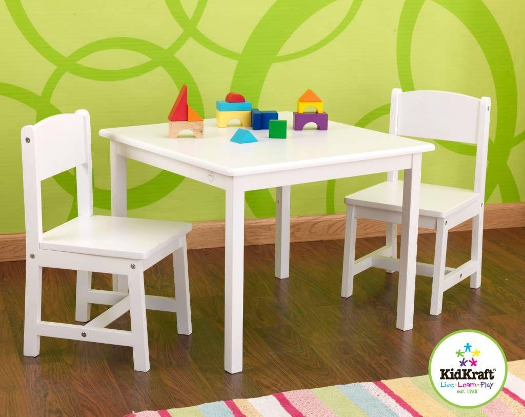 KidKraft Aspen Tafel met 2 stoelen - Wit