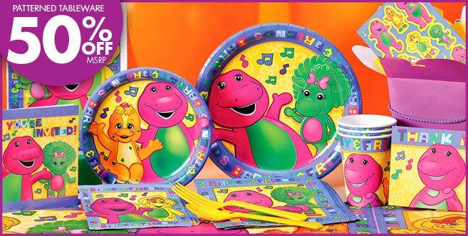 PartyCity Barney Theme Supplies