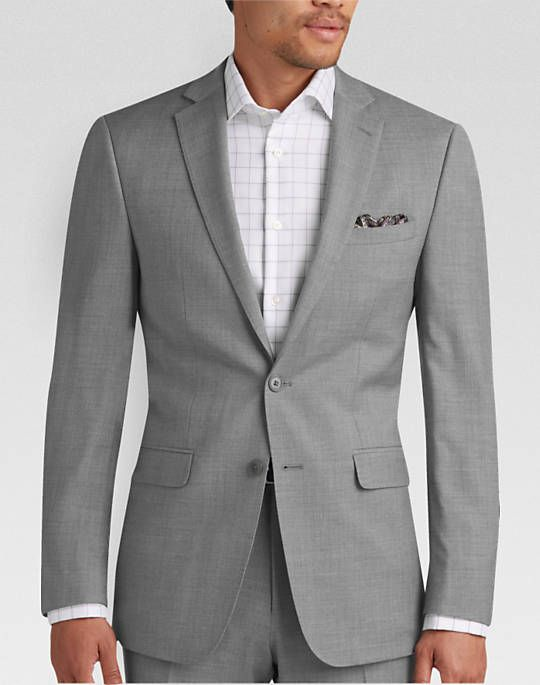 5b579935fd04 Calvin Klein Light Gray Pick Stitch Extreme Fit Suit - Extreme Slim Fit | Men's  Wearhouse