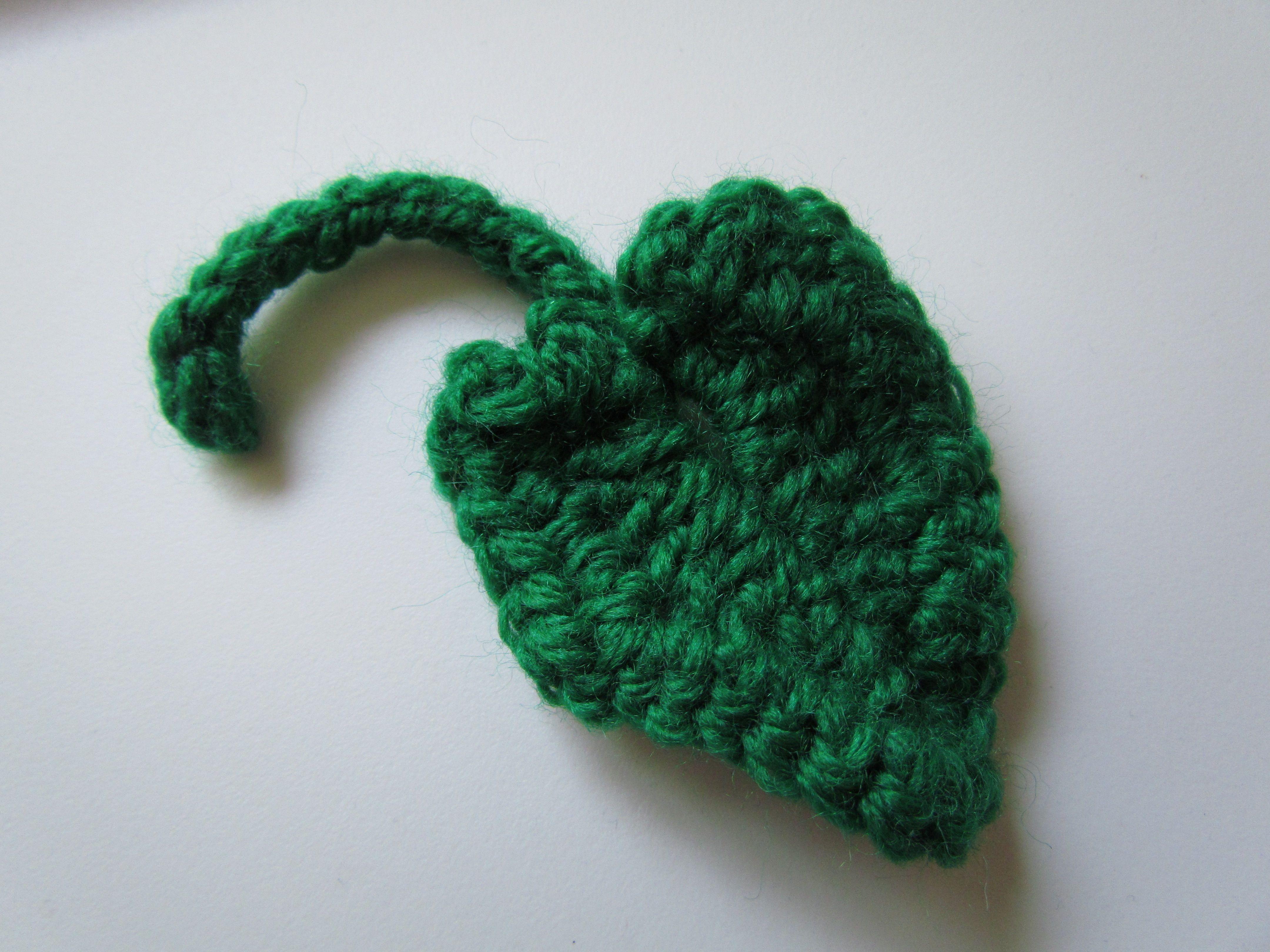 crochet leaves | Fall Pumpkin Leaf – Free Crochet Pattern ...