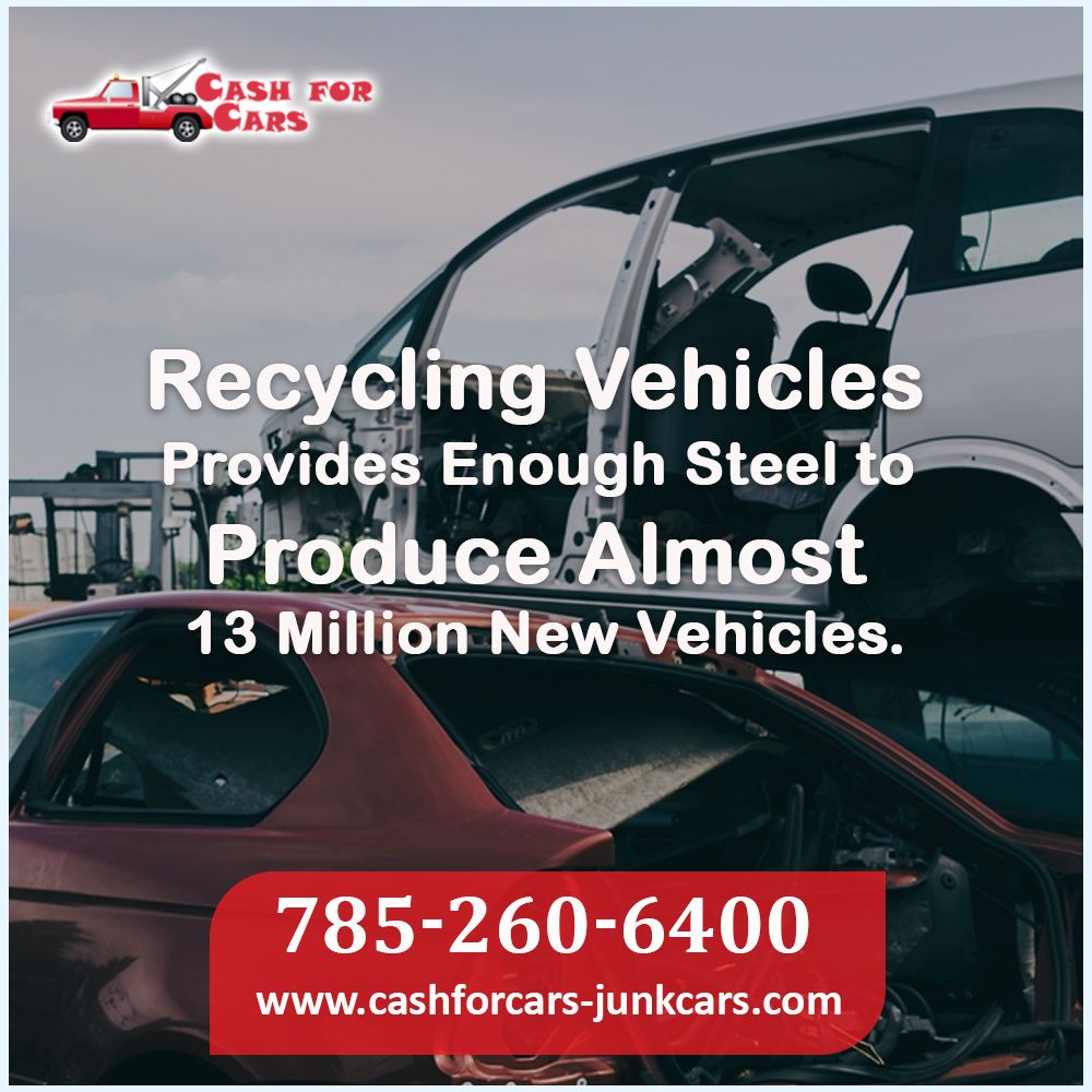 Damaged or junk Recycling vehicles provide enough steel to