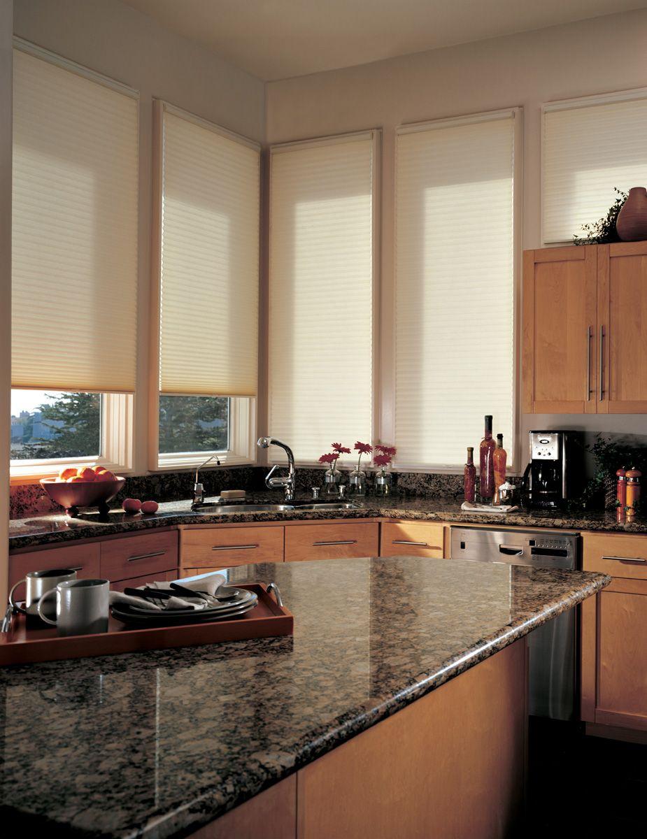 Ideas Amp Tips Kitchen Window Treatments Honeycomb Shades