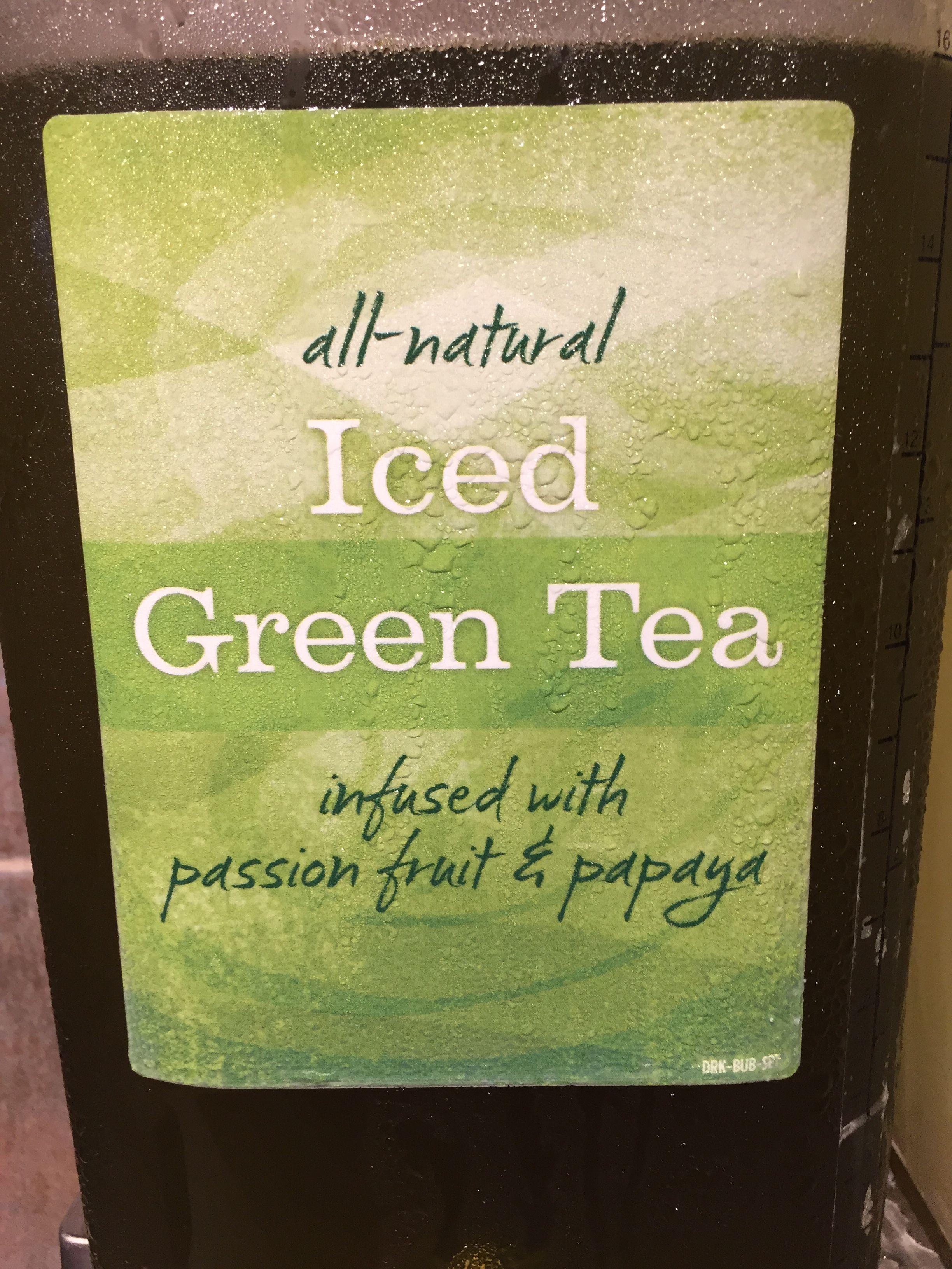 Panera green tea