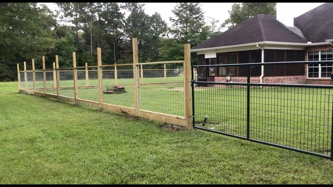 Modular Hogwire Panel Fence With Dado Groove Youtube Types Of Fences Hog Wire Fence Fence