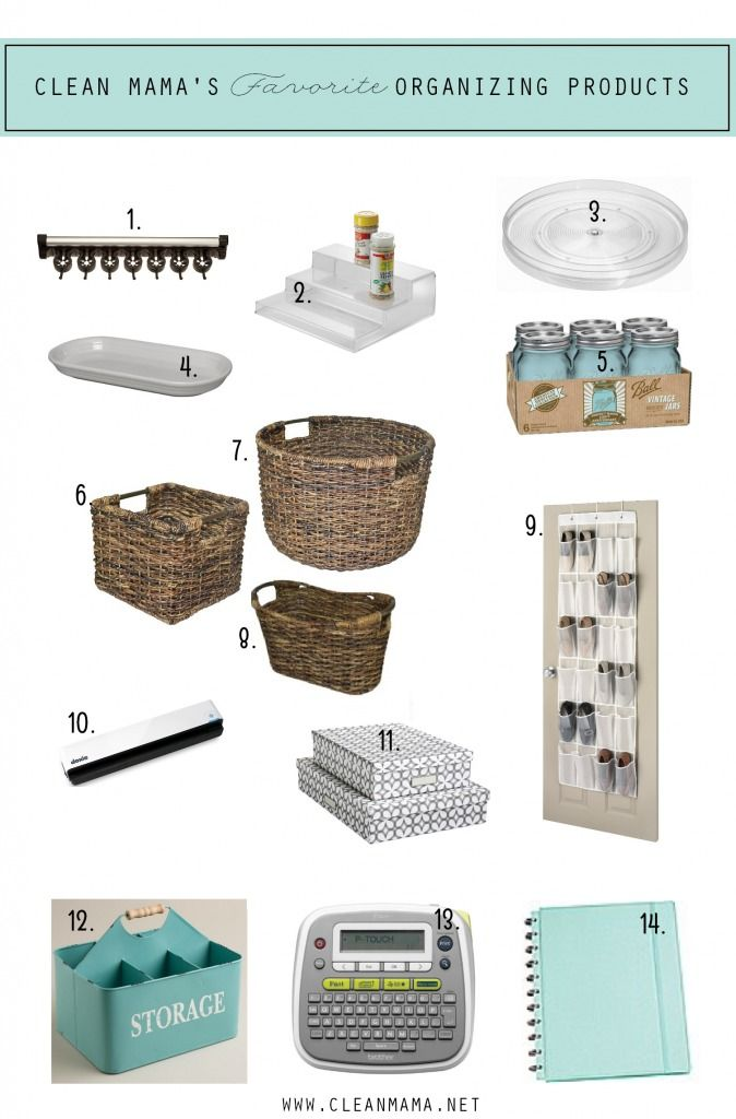 Clean Mama's Favorite Organizing Products via Clean Mama