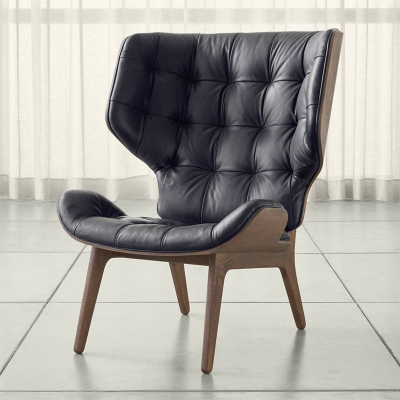 Shop Eames Leather Chair. A Cocoon Of Sculptural Curves, The Mammoth Chair  Surrounds With Buttery Vintage Leather Pillowed With Buttonless Tufting.