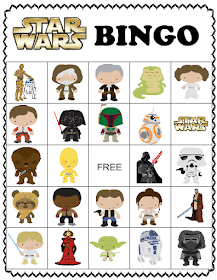 Star Wars Dinner, Bingo, and match game