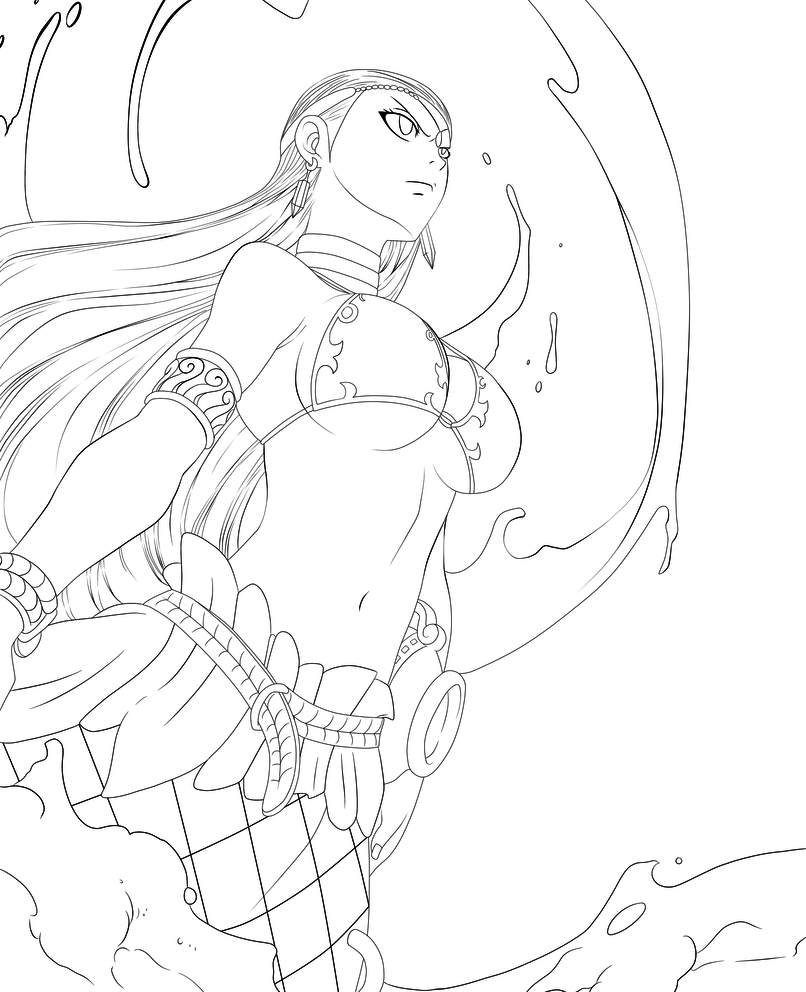 Ft Aquarius Chapter 310 Lines By Minouze Anime Lineart Fairy Tail Art Anime Art Girl [ 992 x 806 Pixel ]