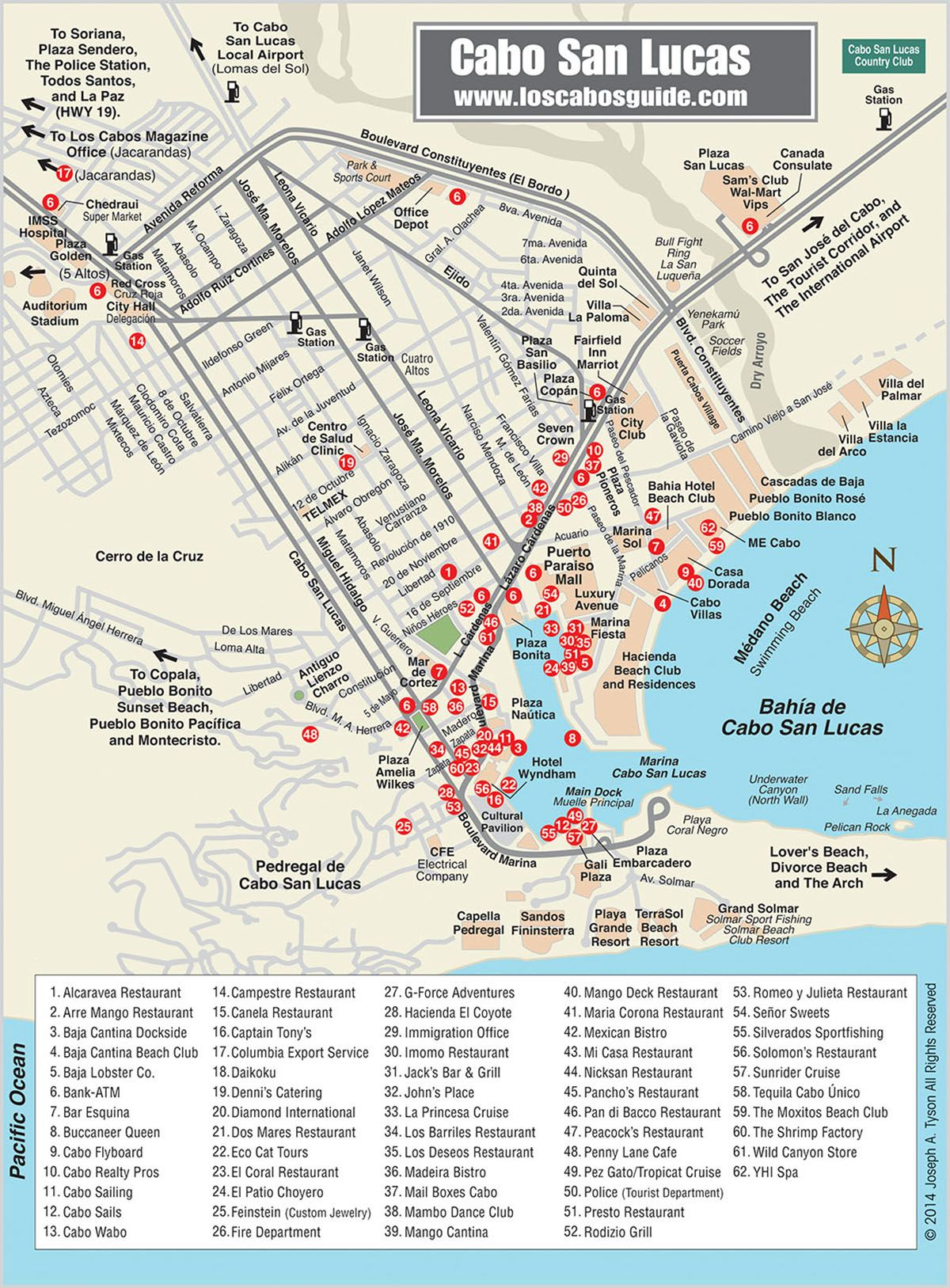 Cabo San Lucas Map Los Cabos Guide Travel