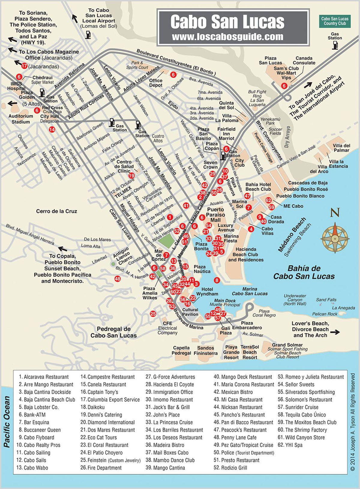 Cabo San Lucas Map - Los Cabos Guide | El Zalante 101 Our Cabo Condo Cabo San Lucas Marina Map on