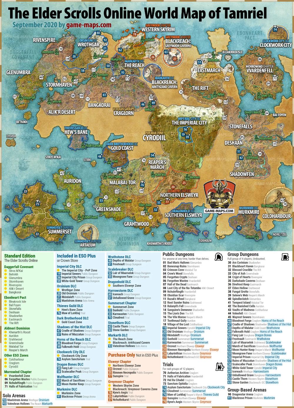 Khenarthi's Roost Map : khenarthi's, roost, World, Elder, Scrolls, Online,