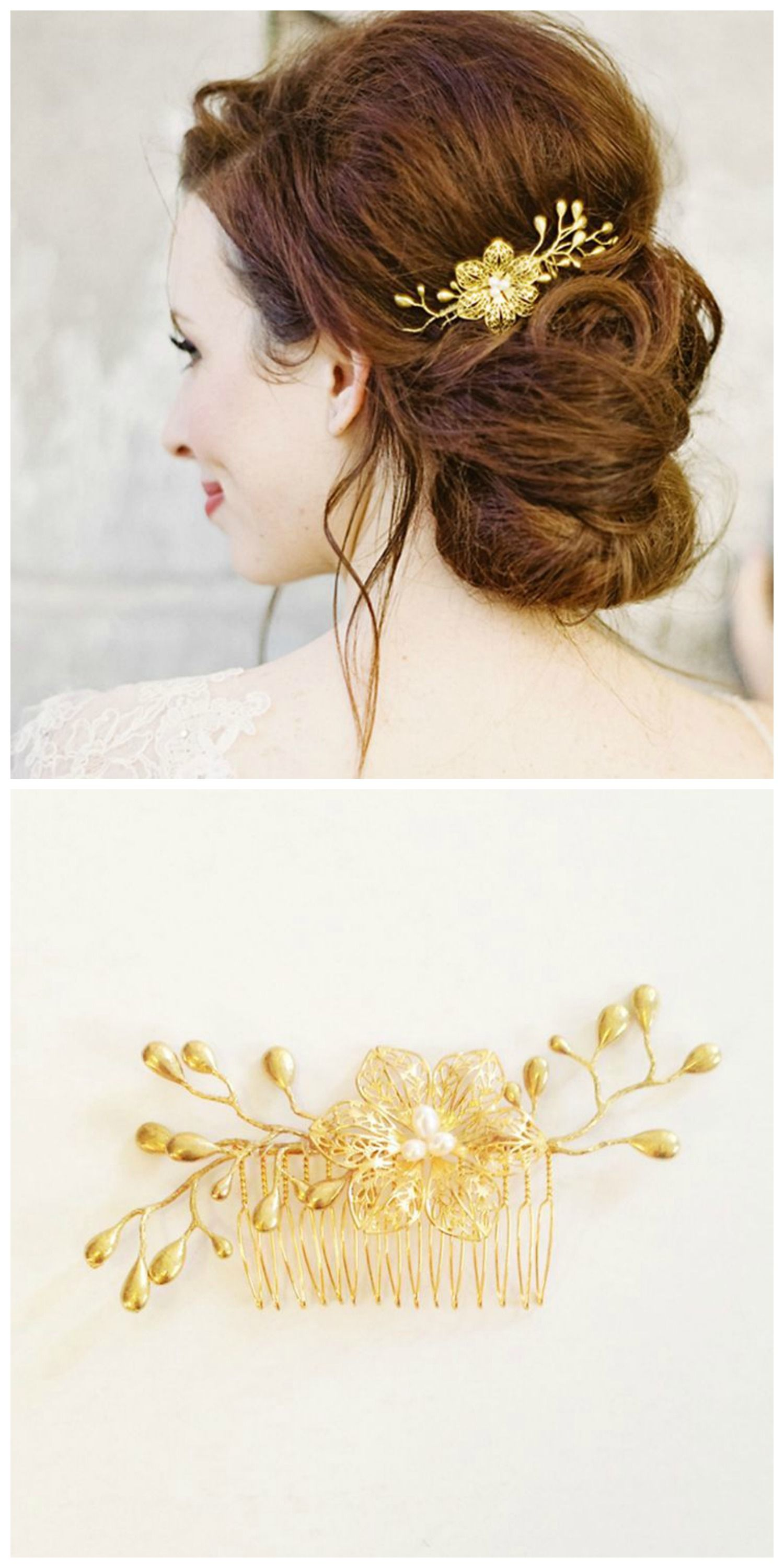 Molly Floral Hair Comb | Floral hair, Hair combs and Floral