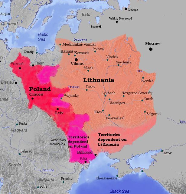 The Grand Duchy of Lithuania and The Kingdom of Poland 1387