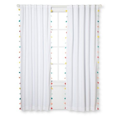 Tassel Blackout Curtain Panel Pillowfort Playroom