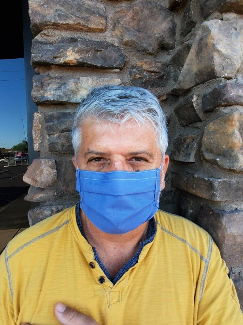 Denim mask with pocket for filter and nose wire washable