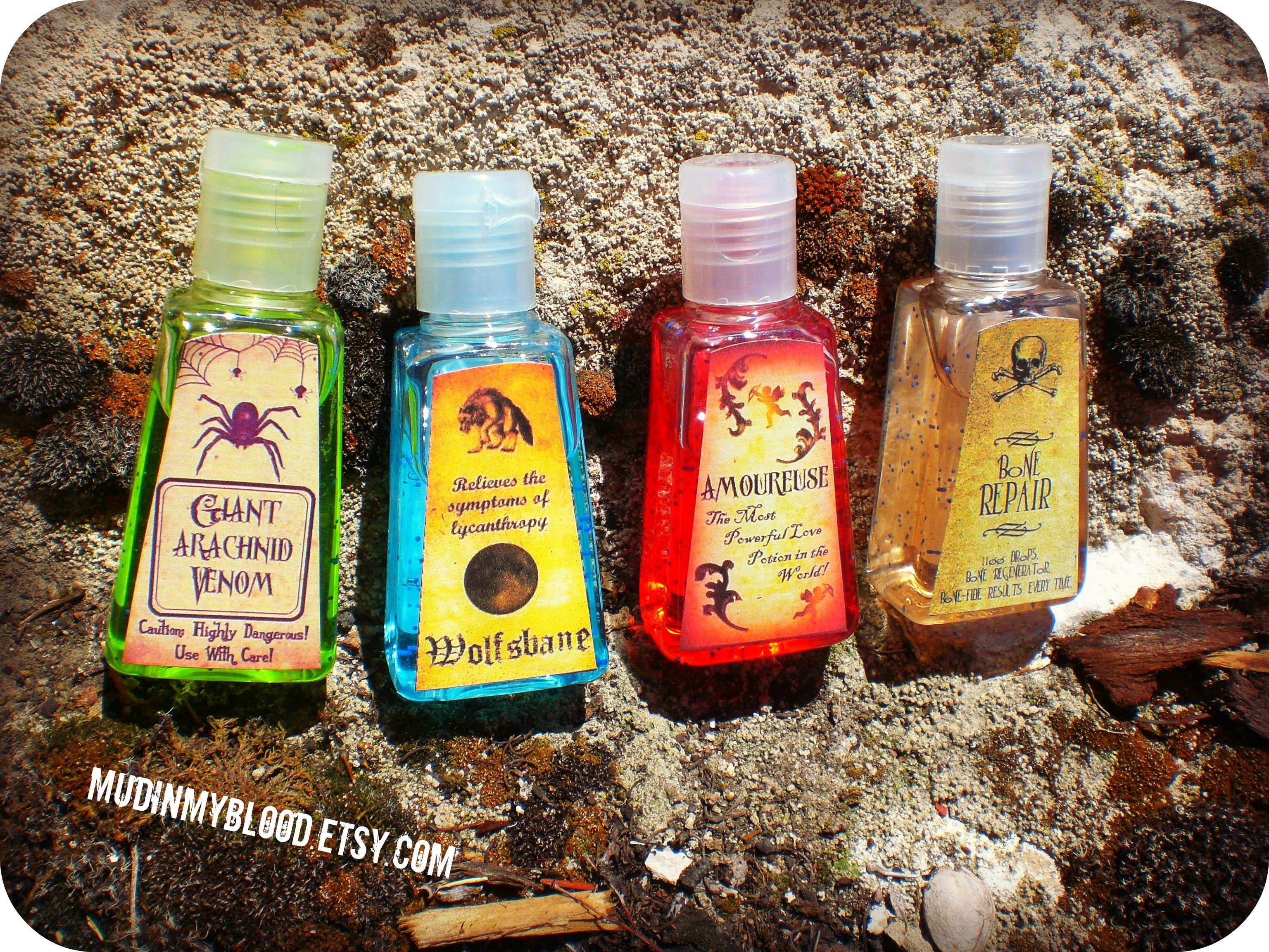 Twelve Harry Potter Inspired Pocket Potion Hand Sanitizers