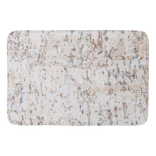 rustic white cork bath mat | Zazzle.com