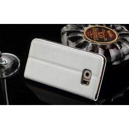 Galaxy S6 edge valkoinen puhelinlompakko