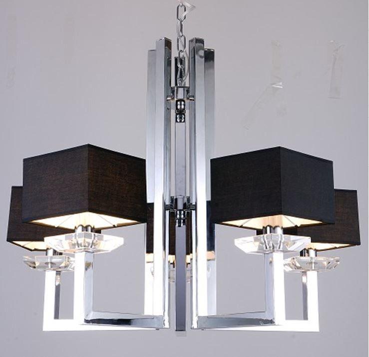 Modrest imogen modern chrome and black chandelier lamp furniture modrest imogen modern chrome and black chandelier lamp aloadofball Images