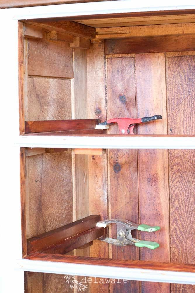 Don't trash that hand me down piece of furniture just because of a few needed repairs!  Let me share with you some simple ways to repair heirloom pieces like this vintage dresser! #furniturerepair #furniturerestoration #antiquefurniture