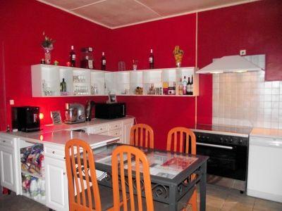 Best Cuisine Rouge Peinture Mur Gallery - Yourmentor.info ...