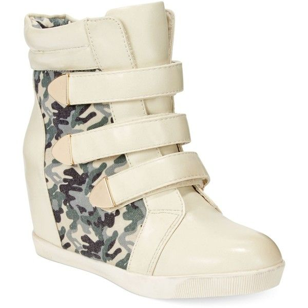 59d0fc3fba4ab Dolce by Mojo Moxy Graffiti Wedge Sneakers (28.360 CLP) ❤ liked on Polyvore  featuring shoes