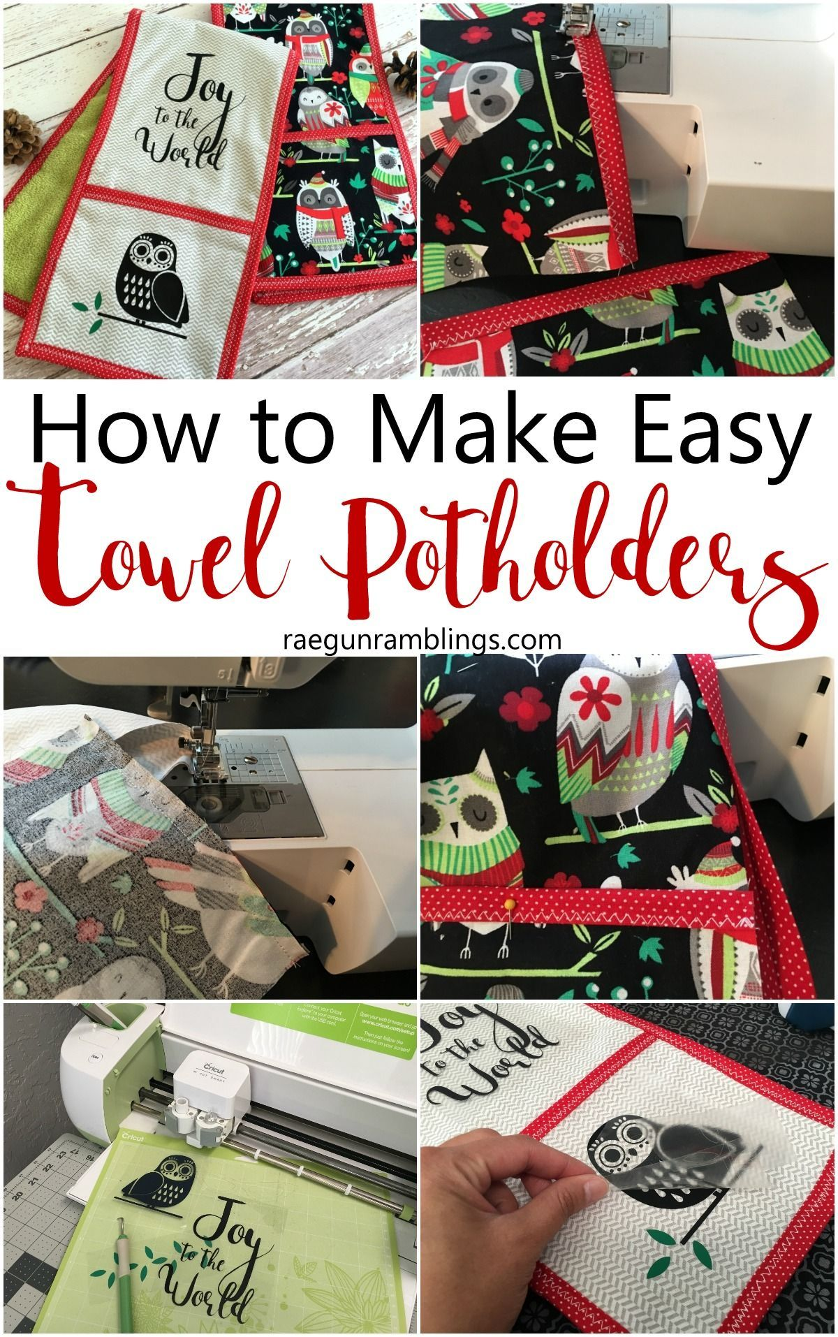 Christmas Potholder Towels | Sewing DIY and Techniques | Pinterest ...