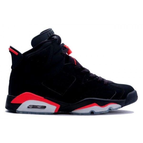 Air Jordan Rétro Chaussure De Style De Vie 6 Mens (infrarouge / Noir)