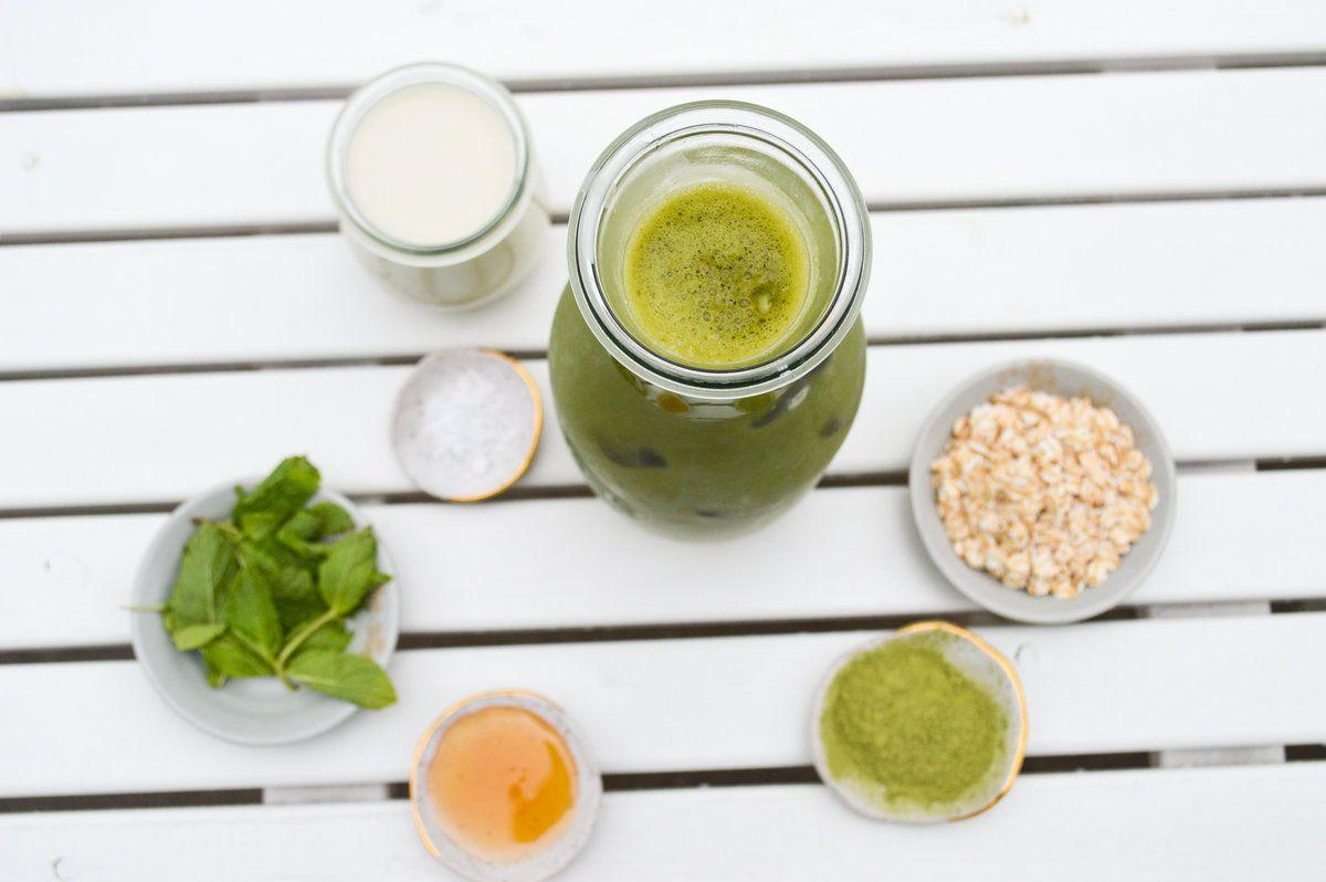 Iced Matcha Oat Milk Latte Feel good food, Food drink