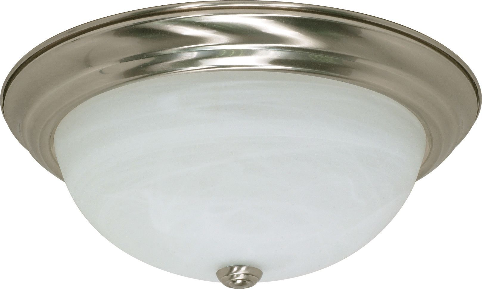 """3 Light ES 15"""" Flush Fixtue with Alabaster Glass - (3) 13w GU24 Lamps Included"""