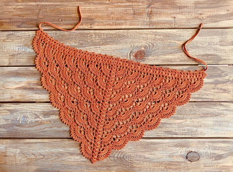 Triangle Hairband Crochet Bandana Head Cover Crochet Headband