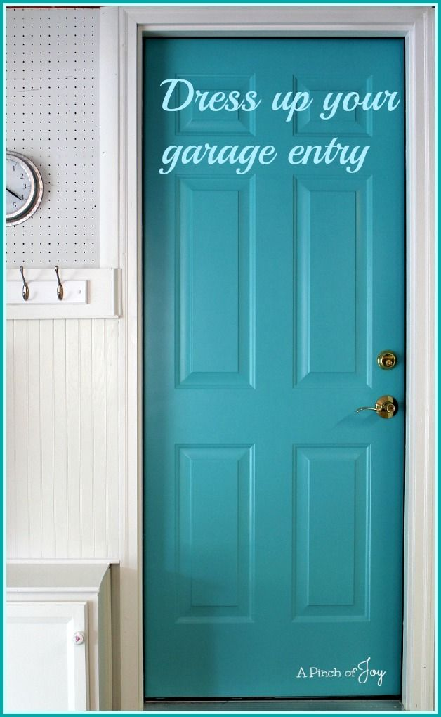 Dress Up Your Garage Entry A Pinch Of Joy Paint The Door Between And House Fun Welcoming Color