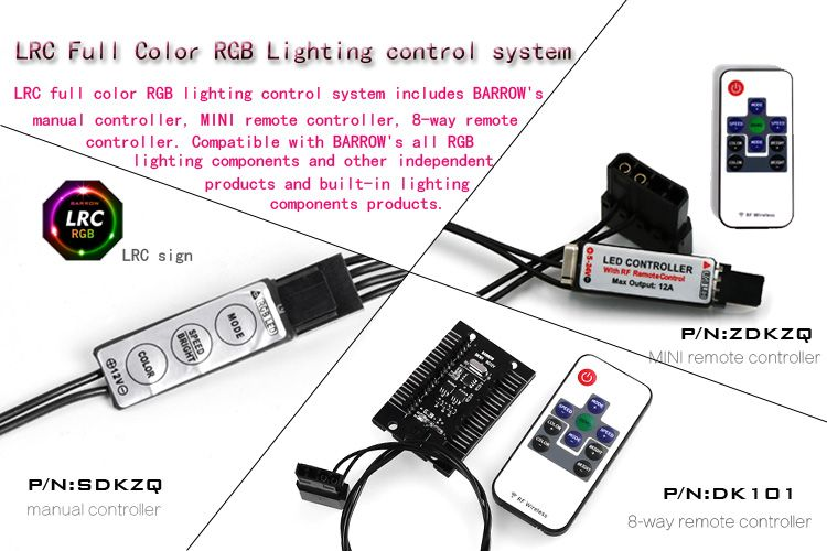 Barrow Lrc Full Color Rgb Lighting Control System 12v Manual Type Lamp Lighting Controller Sdkzq Lighting Control System Led Controller Computer Components