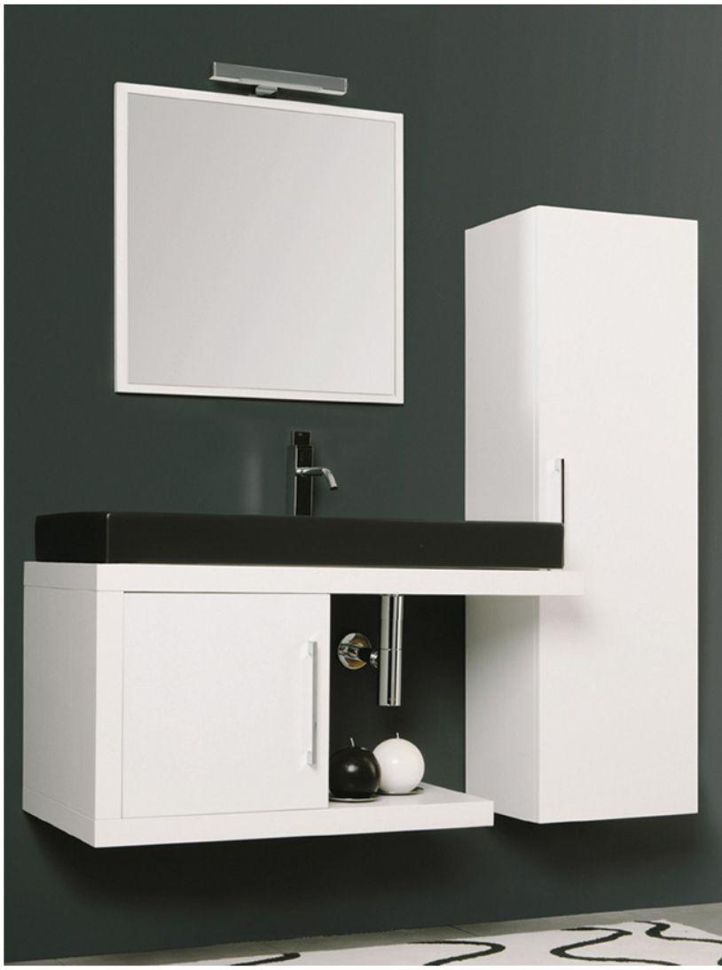 Mastro Fiore Mobili Bagno.Mastro Fiore S Stylish Bath Vanity In Black And White System