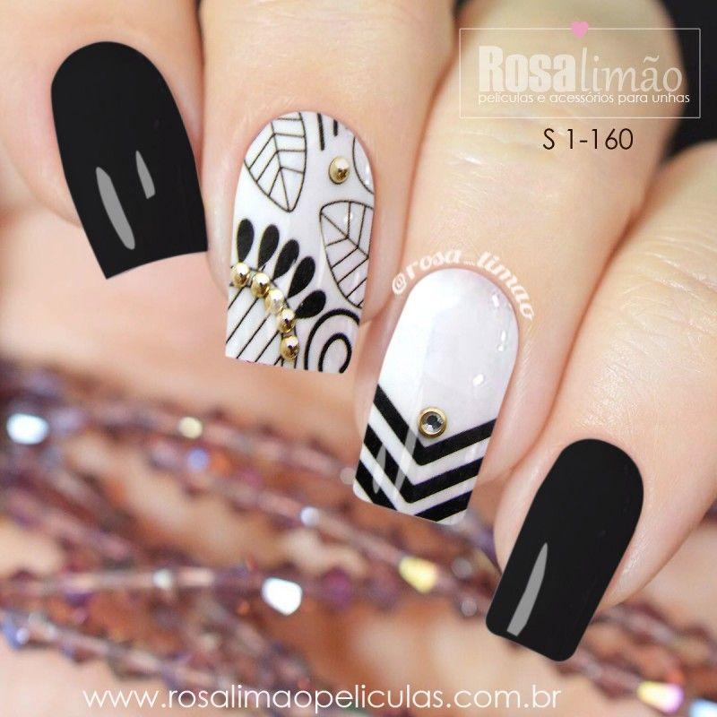 Cartela com 2 ou 5 Pares S 1-160 | Diseño uñas | Pinterest | Diseños ...