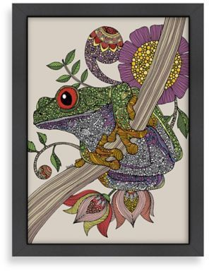 Bed Bath Beyond Americanflat Valentina Ramos Phileus Frog Digital Print Wall Art With Black Frame Frog Art Animal Art Art