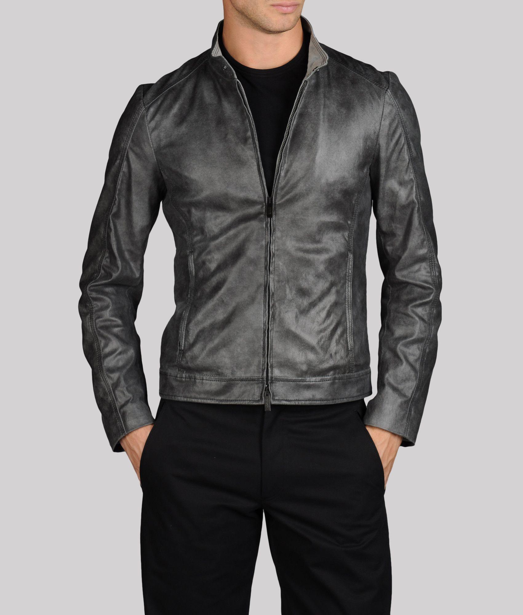 Armani Collezioni Official Online Store Men Leather Jacket Leather Jacket Leather Jacket Men Jackets [ 2000 x 1700 Pixel ]