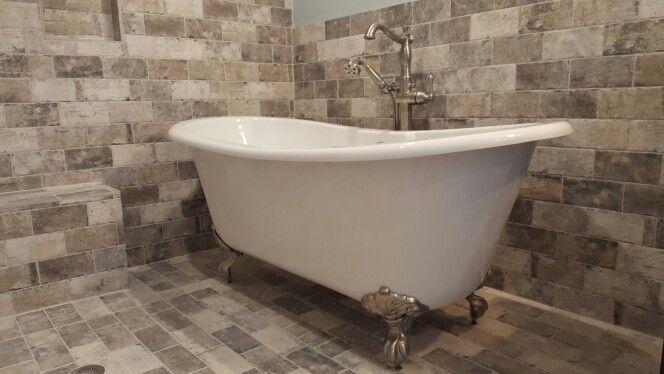 Walk in shower and claw foot tub. Maax versailles bathtub. New York ...