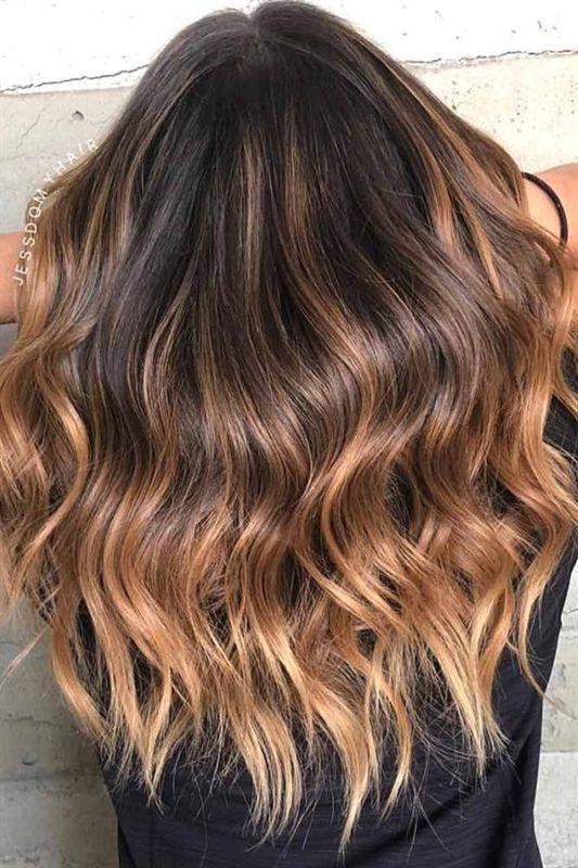 53 Heißesten Braun Ombre Haar Ideen #browneyeshadow