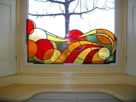 Pin Op Stained Glass Art